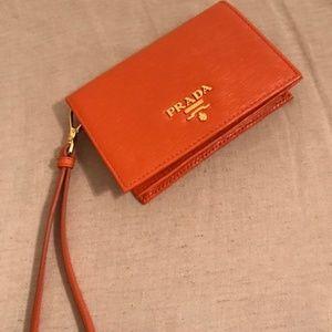 Prada Safiano wristlet wallet